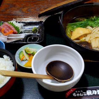 ちゃんこ鍋&刺身定食(ちゃんこ 萩乃井 )