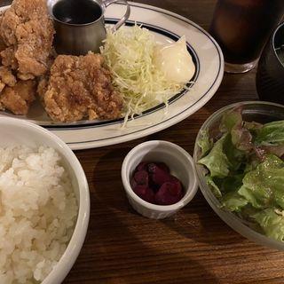 ガブリシャス特製唐揚げ定食(ワイン酒場 GabuLicious 銀座)