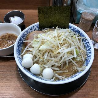 小ラーメン150g味付き脂玉葱コーンニンニク無し(ラーメンぶぅさん)
