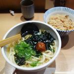 梅わかめうどん+かしわご飯セット(うどん居酒屋 粋(すい) 六本松店)
