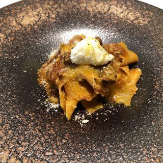 美食家のラグーミートソース ローズマリーを練り込んだ自家製パッパルデーレ(リストランテ パドリーノ・デル・ショーザン (PADRINO del SHOZAN))