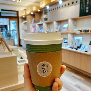 お抹茶ラテ(雷一茶 (カミナリイッサ))