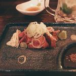 鶏白レバー刺