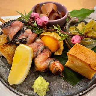 本日の八寸(日本料理 秀たか)