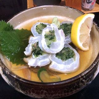 平目ときゅうりの酢の物(ほろよい )