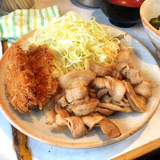 生姜焼き+ヒレカツ(とんかつ三太 (とんかつ・さんた))