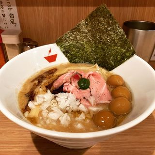 蟹そば+雑炊セット(crab台風。)