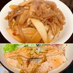 ウドこんにゃくキンピラ&サーモン焼