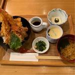 三陸穴子と海老の天丼