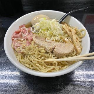 らーめん+味玉(自家製麺 結び)