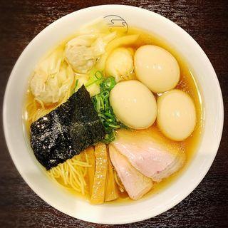 特製ワンタン麺ハーフ(ミックス)(八雲)