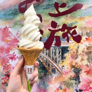 フレッシュミルクソフトクリーム(牧場カフェ醍醐)