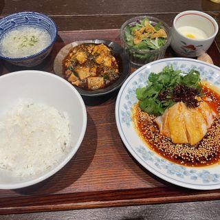 森本名物よだれ鶏ランチ(中華旬彩森本)