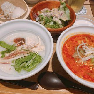 ハーフ&ハーフセット(粥餐庁 東武池袋店)