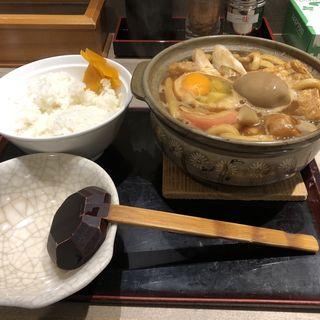 味噌煮込みうどん 柔らかい麺(でら打ち)