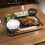 鷄チリ定食