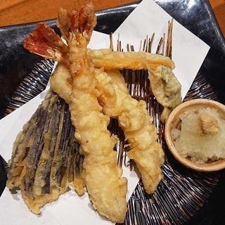 大海老天ぷら盛り合わせ(蕎麦居酒屋 高田屋 川崎)