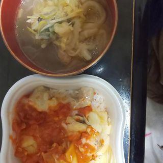 鶏チーズ丼&しゃきしゃき野菜スープ