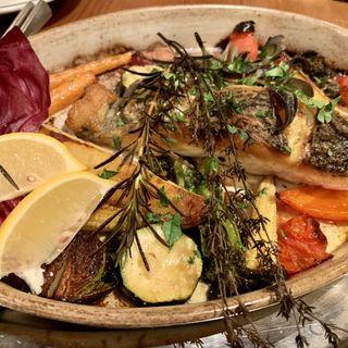 鮮魚と季節野菜のオーブン焼き