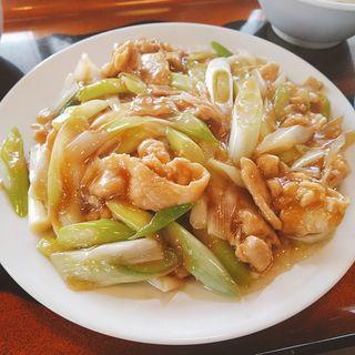 豚バラと長葱炒め定食(味和居 )