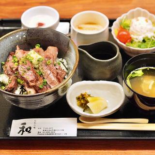 牛ハラミステーキ丼(和 )