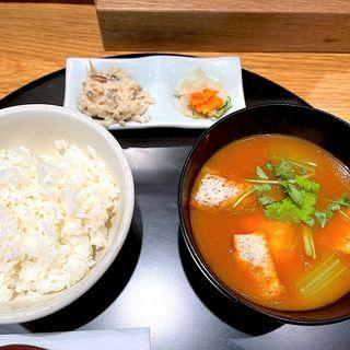 オマール海老の味噌汁(おだし東京 エキュート品川 サウス店)