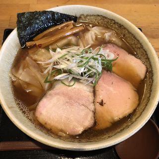 ワンタン醤油そば(麺切り 白流)