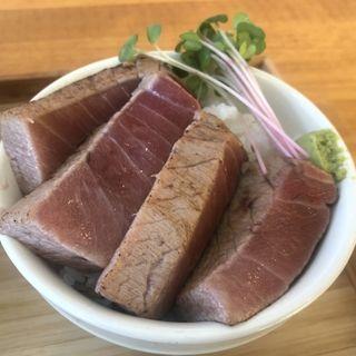 炙り中トロ飯(自家製麺と定食 弦乃月)