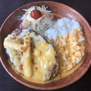 チーズ三昧バーグディッシュイエロー 300g(びっくりドンキー 河原町店 )