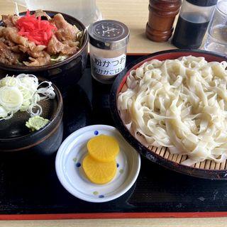 豚丼セット(そばよし )