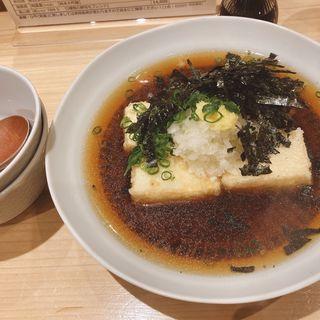揚げ出し豆腐(まごめ酒肴 神徳)