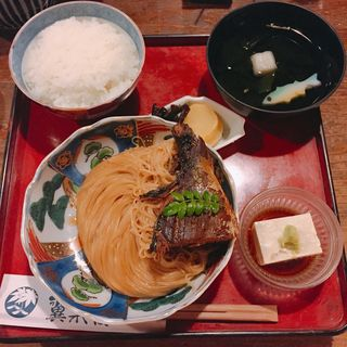 焼き鯖そうめんの定食「鯖街道」(翼果楼 )