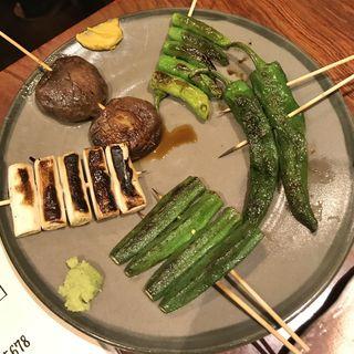 串盛り(野菜5本)(やきとり処 大舞)