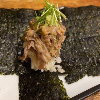 ホタルイカのなめろう寿司(立呑み とだか)