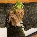 ホタルイカのなめろう寿司