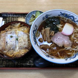 カツ丼+ラーメンセット