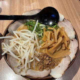 味噌ラーメン+チャーシュー+メンマ