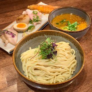 限定 シーフードヴィスクつけ麺(海老丸らーめん)