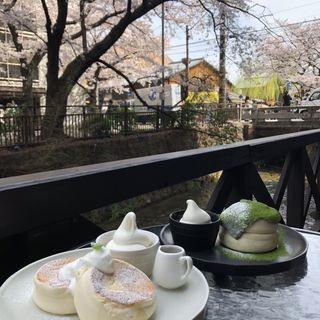 ほうじ茶パンケーキ(cafe rob 京都)