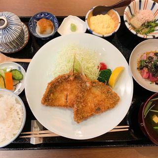 上アジフライ膳(田中田式 海鮮食堂 魚忠 西麻布店)