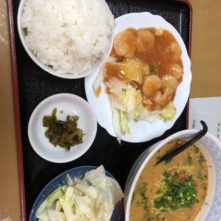 麺セット(担々麺とエビチリ)(天順居 )