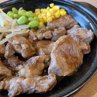 肩ロースカットステーキのオニオン醤油焼き 肉1.5倍