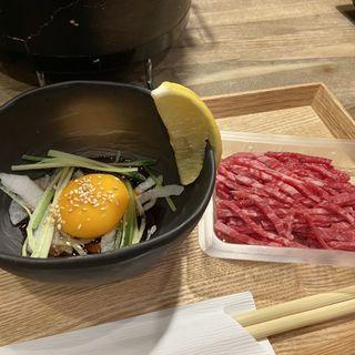 山形牛ユッケ(七輪焼肉 肉屋 )