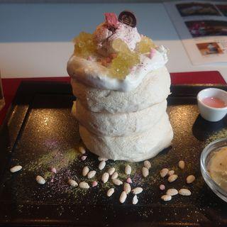 桜パンケーキ(Riz Labo Kitchen)