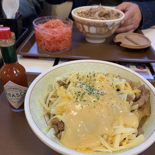 とろ〜り3種のチーズ牛丼(中盛)
