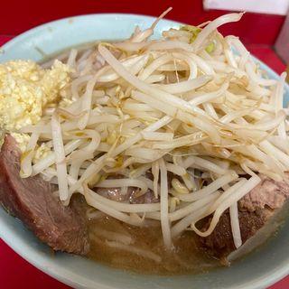 小ラーメン豚ダブル野菜大蒜辛め(ラーメン二郎 歌舞伎町店 (らーめんじろう))