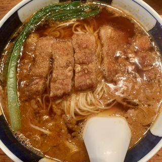 排骨担々麺(支那麺 はしご本店)