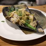 タイラギ(平貝)ブルーチーズ青のりソース