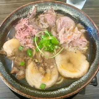 旨辛レッドの肉そば(肉麺 ひだまり庵)