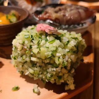 きゅうりと柴漬けのポテトサラダ(酒 秀治郎)